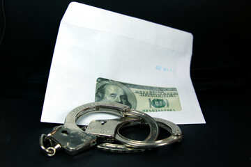 Fraud. Dollars, handcuffs. №4700