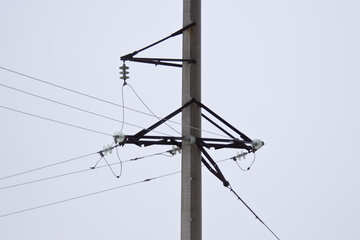 Electric pole with wires №4444
