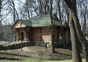 Casa di legno. Quadro. №4609