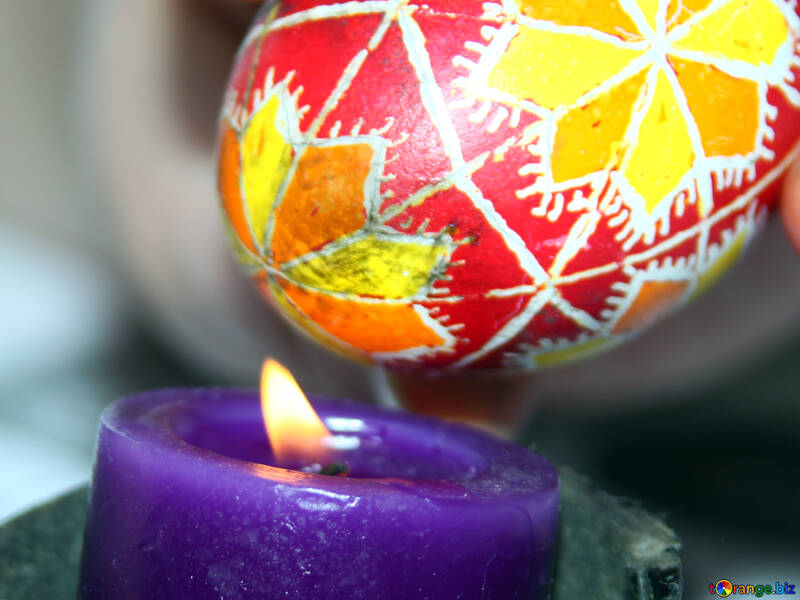 Easter egg wash on the candle №4405