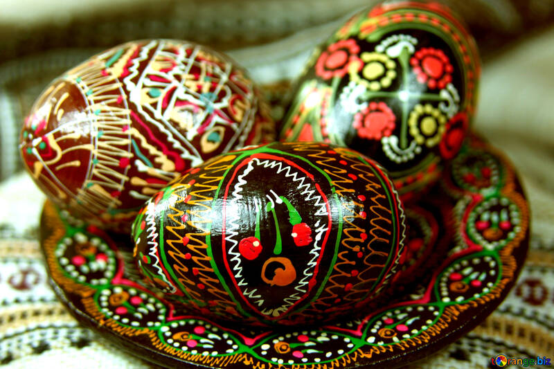 Painted eggs №4278