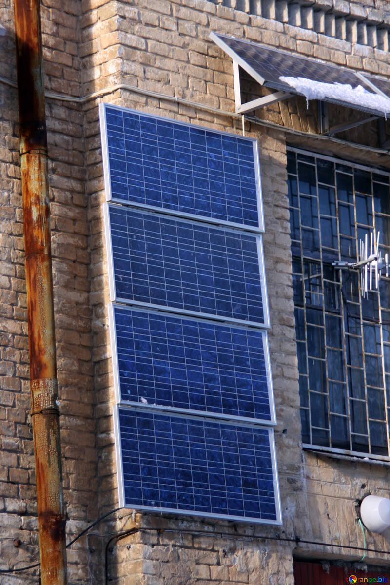 Fuentes de energía renovable solar batería ecología № 4245
