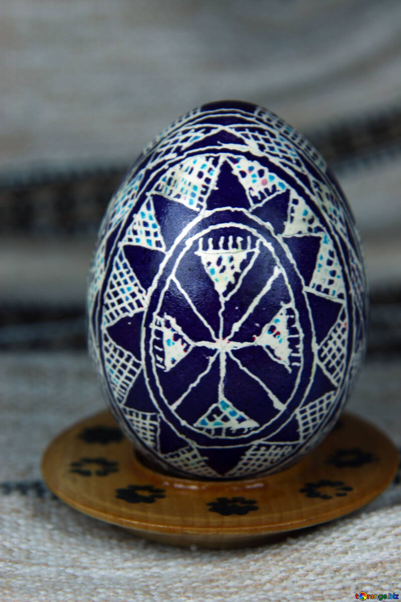 Easter egg. Rake, Grabel`ka. The symbol of rain, fertility. №4375