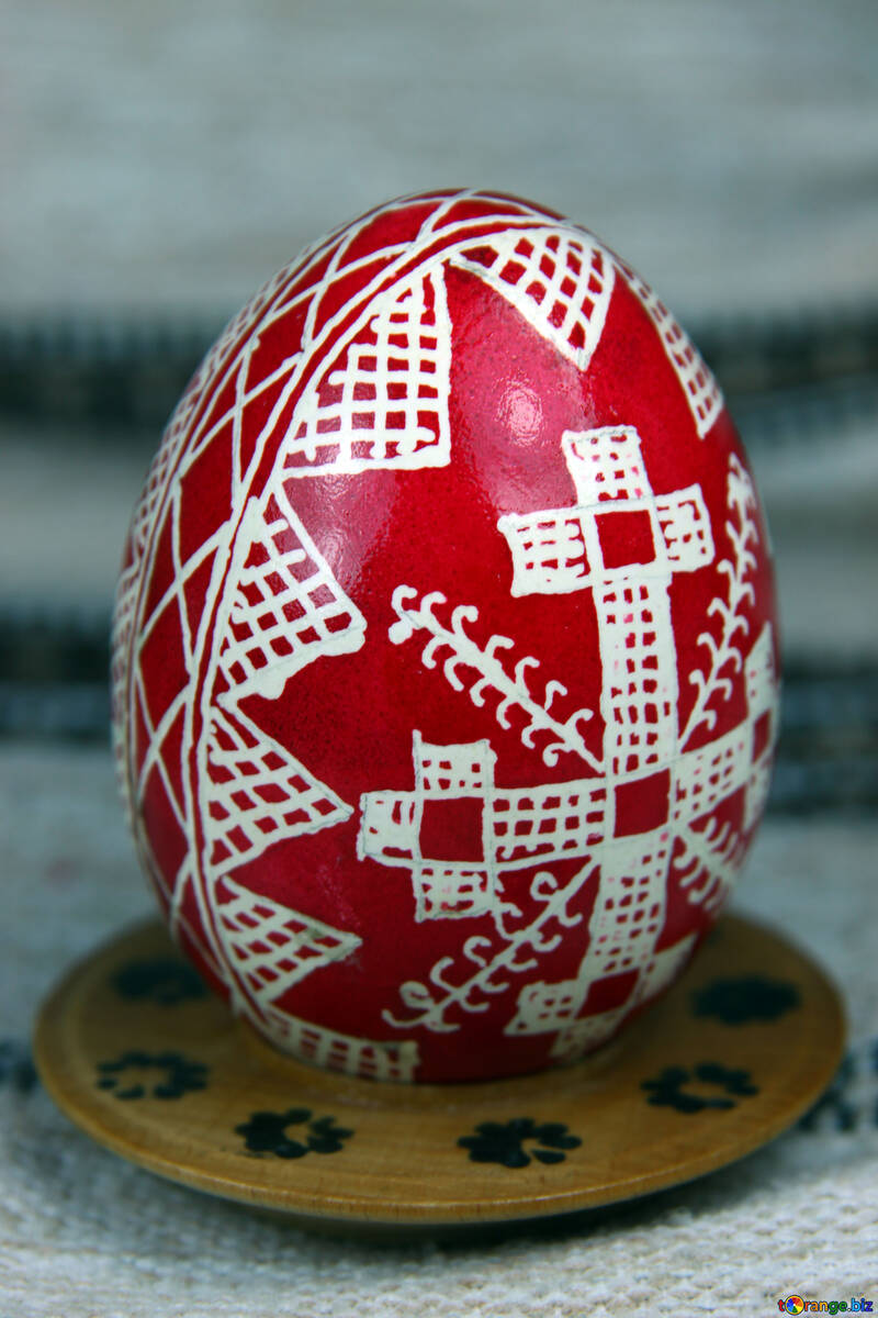 Easter egg. The symbol of the cross, roofs. Amulets. №4369