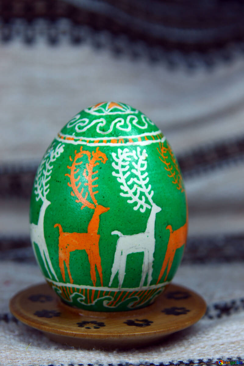 Easter egg. Symbol deer. Agriculture, trade and knowledge. №4362