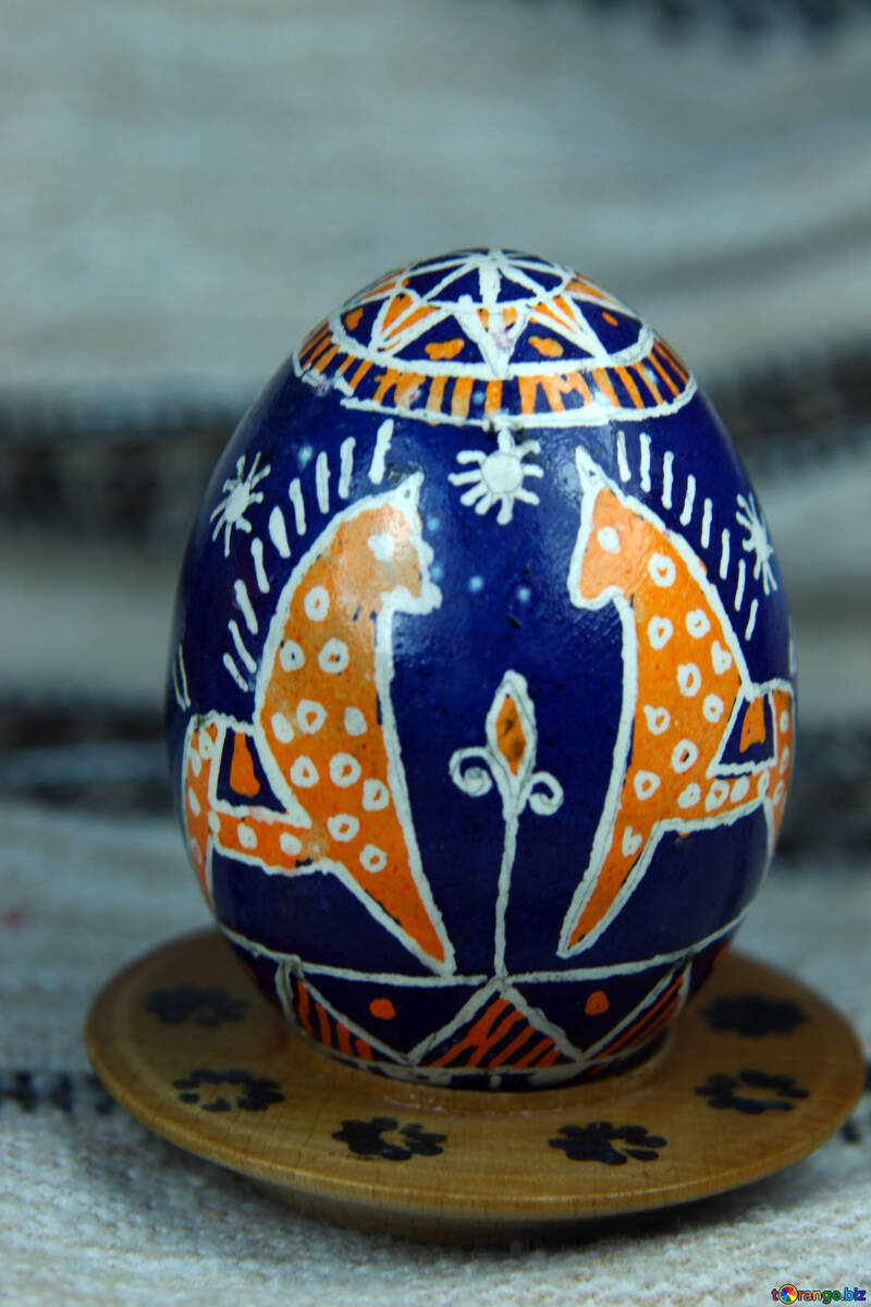 Easter egg. The symbol of the horse. Speed and stamina. №4368
