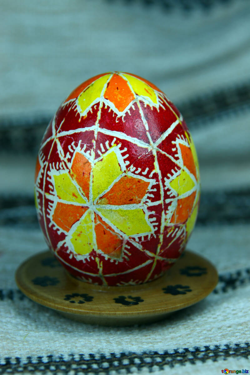 Easter egg. The symbol of star, Zorya. Heavenly order. №4365
