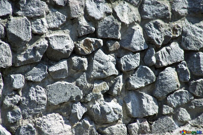 Texture, rough stone wall.Bricklaying. №4682
