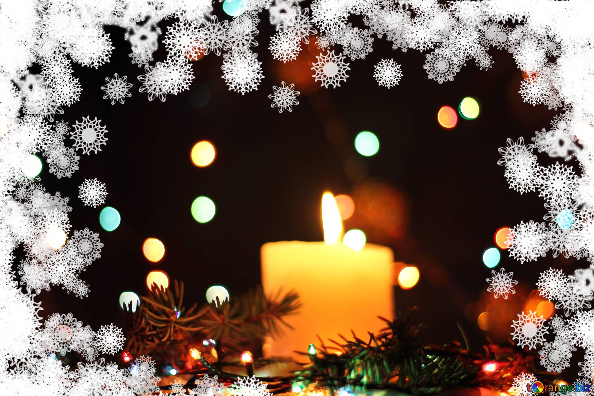 Weihnachtskerzen hintergrund weihnachten kerze schneeflocke grafik ...
