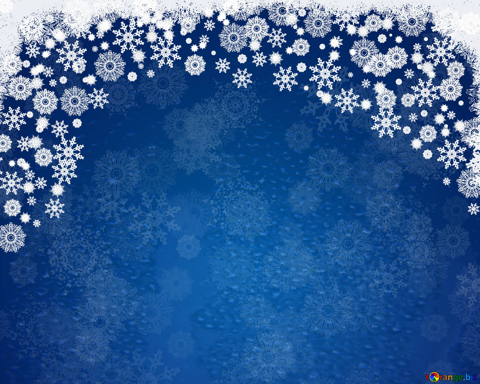 blue background for christmas and new year cards