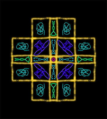 Symmetrical abstract picture on dark background №40459