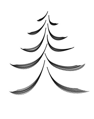 Figure calligraphy-style Christmas tree №40646