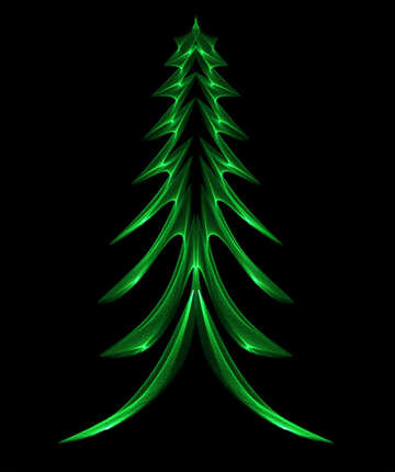 Green bright picture Christmas tree №40652