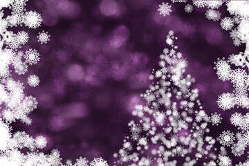 Purple background with Christmas tree №40730