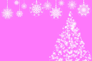 Pink Christmas and new year