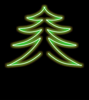 Pattern green Christmas tree №40647