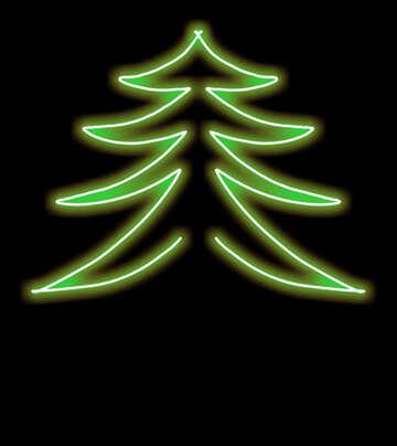 Узор зеленый рождественская елка №40647
