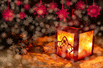Background Christmas night №40681