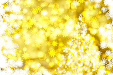 Tree yellow background Christmas and new year