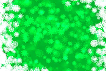 Green background, Christmas and new year №40705