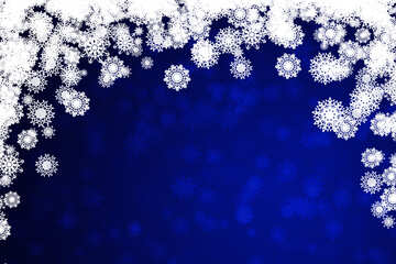 Blue background Christmas and new year №40710
