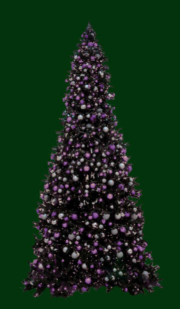 Christmas tree isolated on green background №40737