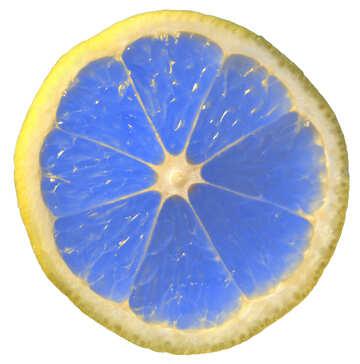 Blue lemon isolated №40831