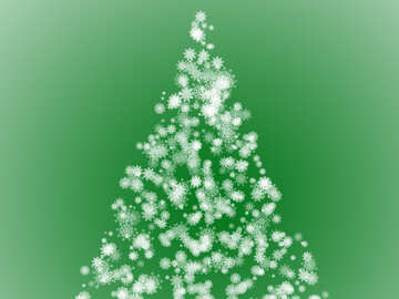 Clipart Christmas tree green of snowflakes