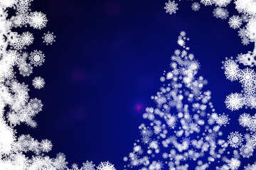 Background clipart Christmas tree with snowflakes №40697
