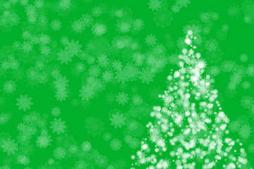 Snowflakes and Christmas tree clipart new year №40670