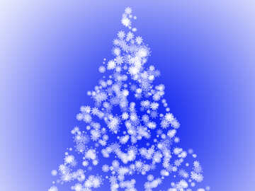 Christmas tree of snowflakes №40661