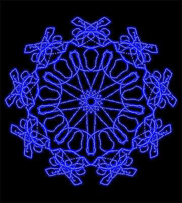 Абстрактный узор снежинка №40154