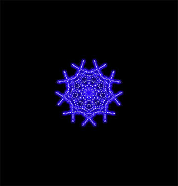 Element of the ornament snowflake №40145