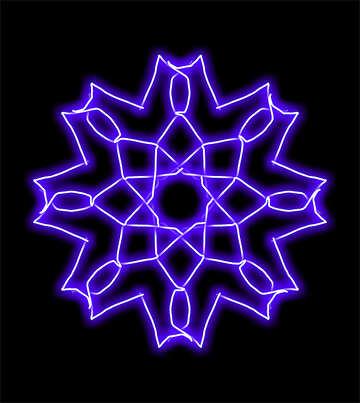 Pattern snowflake lighting №40062