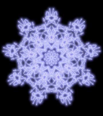 Snowflake pattern №40515