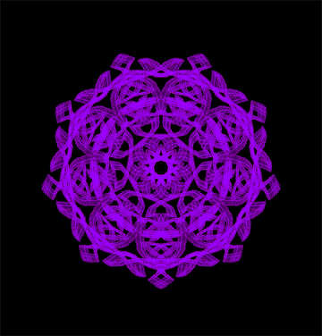 Beautiful ornament snowflake №40132