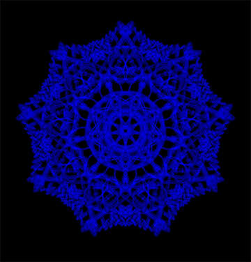 Ornament snowflake №40130
