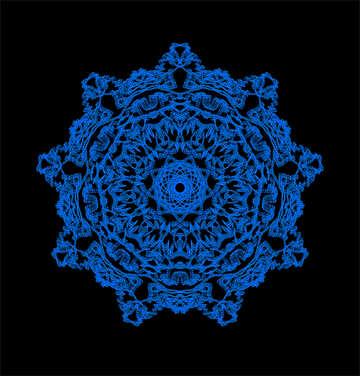 Ornament snowflake №40285