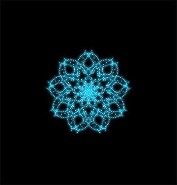 Ornament snowflake №40371