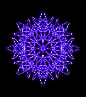 Snowflake pattern glowing №40114