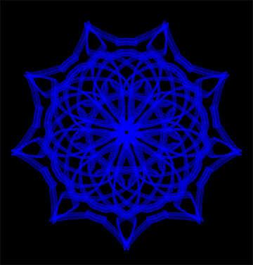 Snowflake pattern №40125