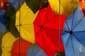 Background colored umbrellas №40971