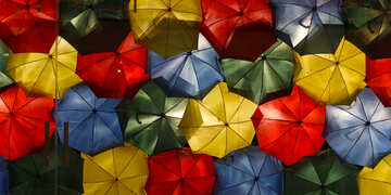 Texture colored umbrellas №40969