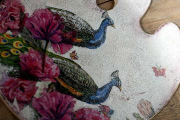 Decoupage peacocks №40852