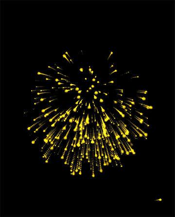 Feuerwerk auf dunklem Hintergrund №40030