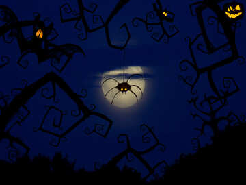 Halloween Postcard greetings №40592