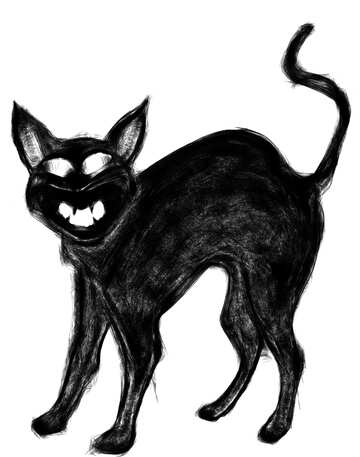 Halloween clipart evil black cat №40583