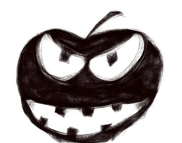 Clipart for Halloween evil pumpkin №40482