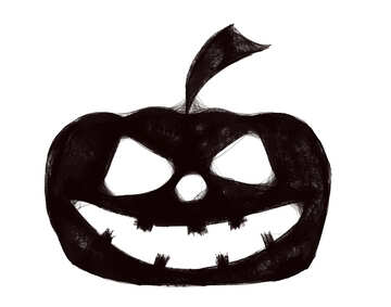 Clipart of Halloween Pumpkin №40495