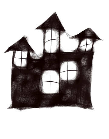 Clipart for halloween scary house №40488